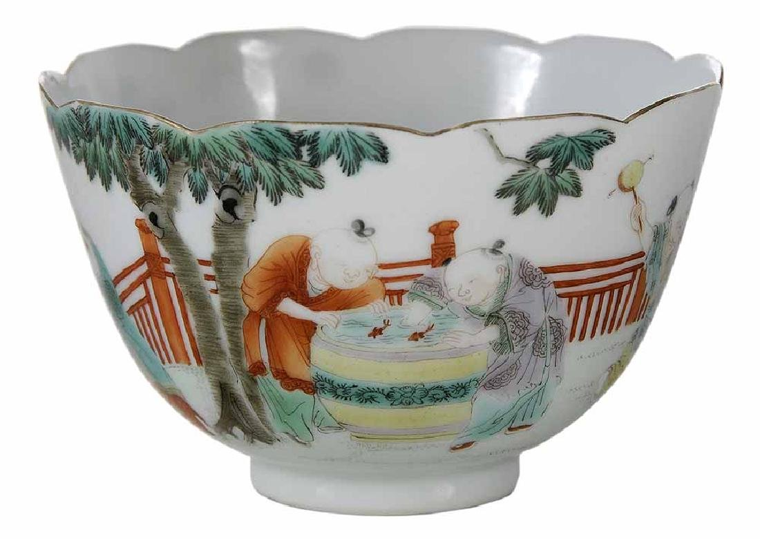 Famille Rose Tea Cup With Enameling