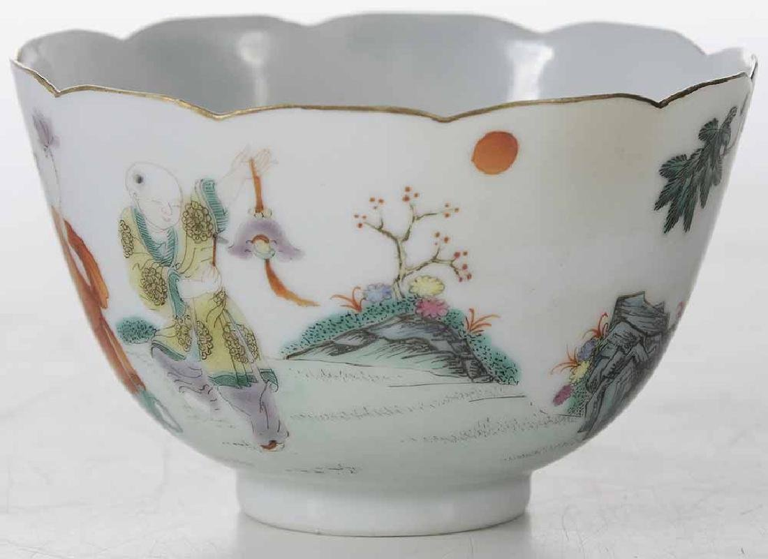 Famille Rose Tea Cup With Enameling - 3