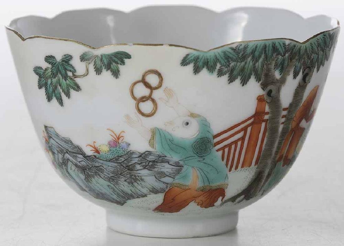Famille Rose Tea Cup With Enameling - 4