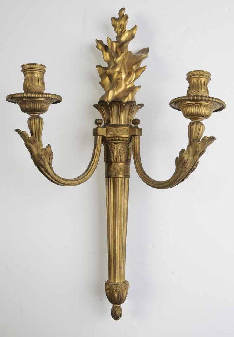 Two Pairs Empire Revival Wall Sconces - 3