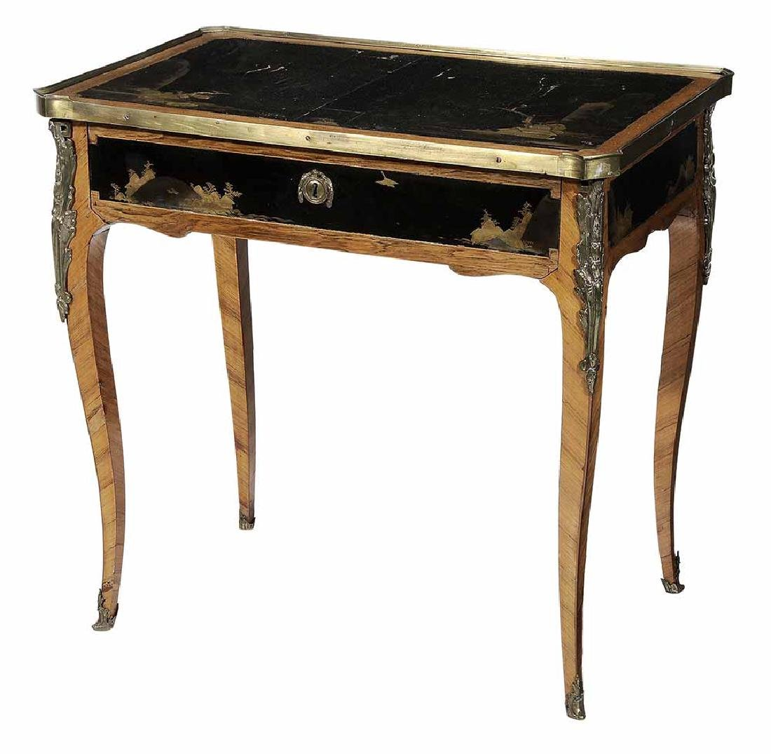 Louis XV Style Lacquered and Bronze-