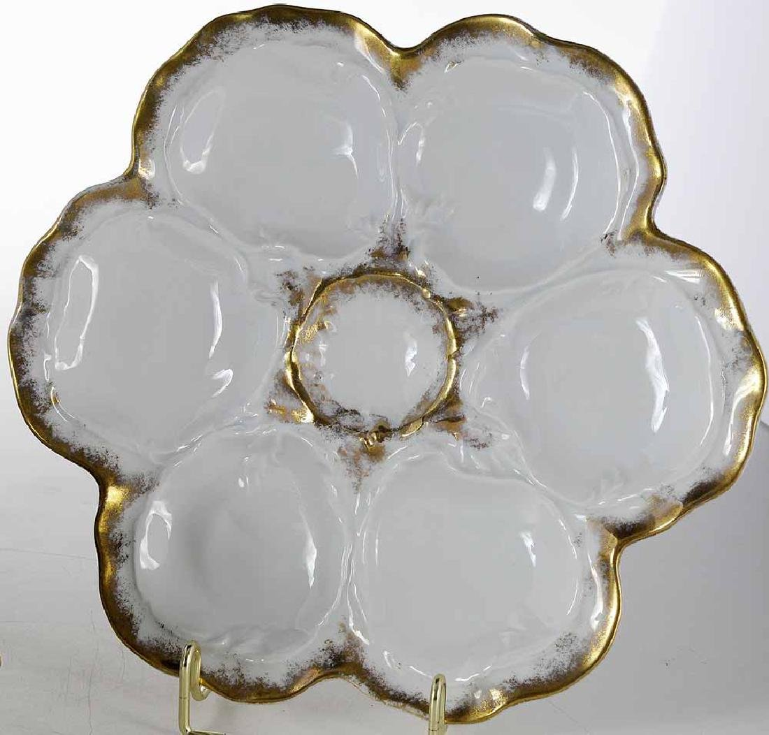 Set of Eight Limoges Oyster Plates - 2