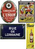 Four Vintage French Signs