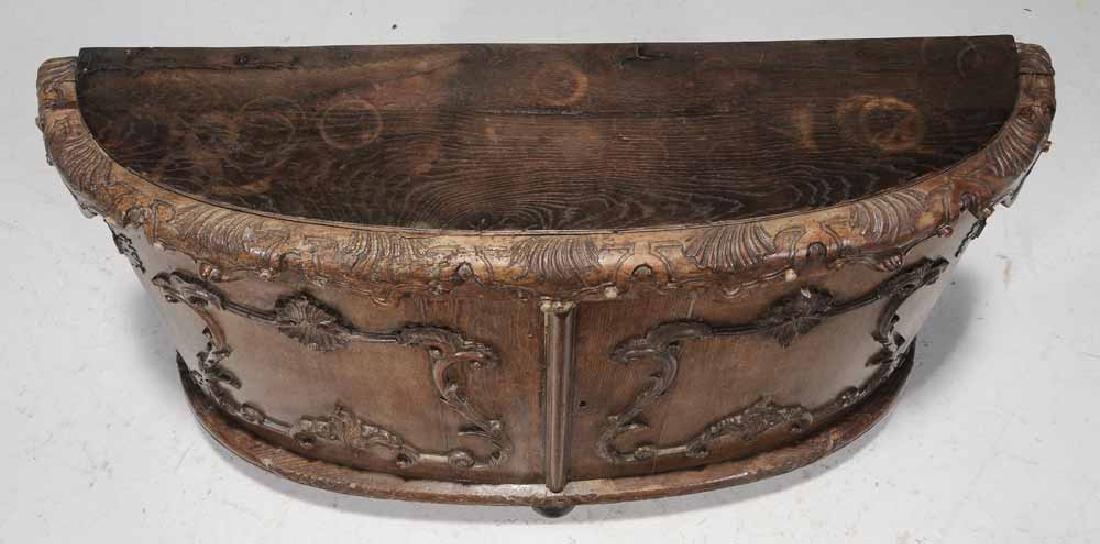 Continental Rococo Carved Demilune - 4