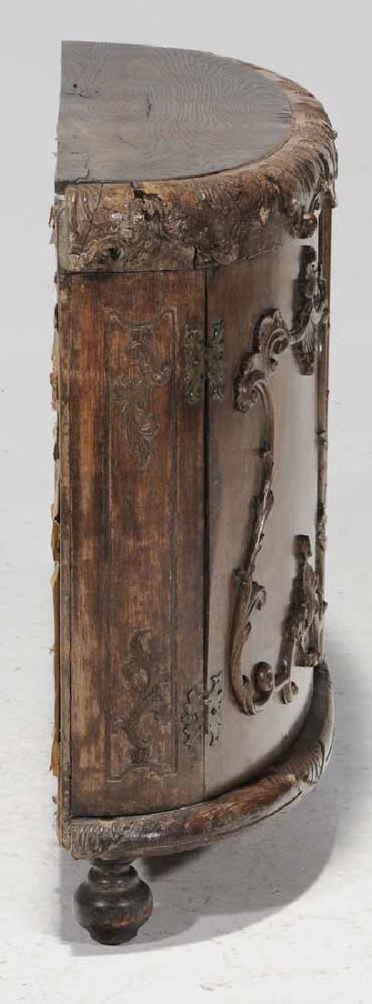 Continental Rococo Carved Demilune - 5