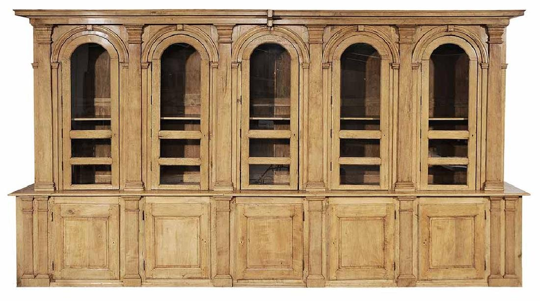 Italian Neoclassical Pearwood Bookcase
