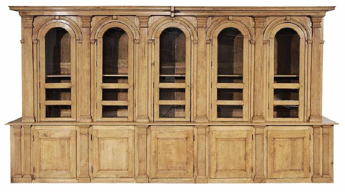 Italian Neoclassical Pearwood Bookcase