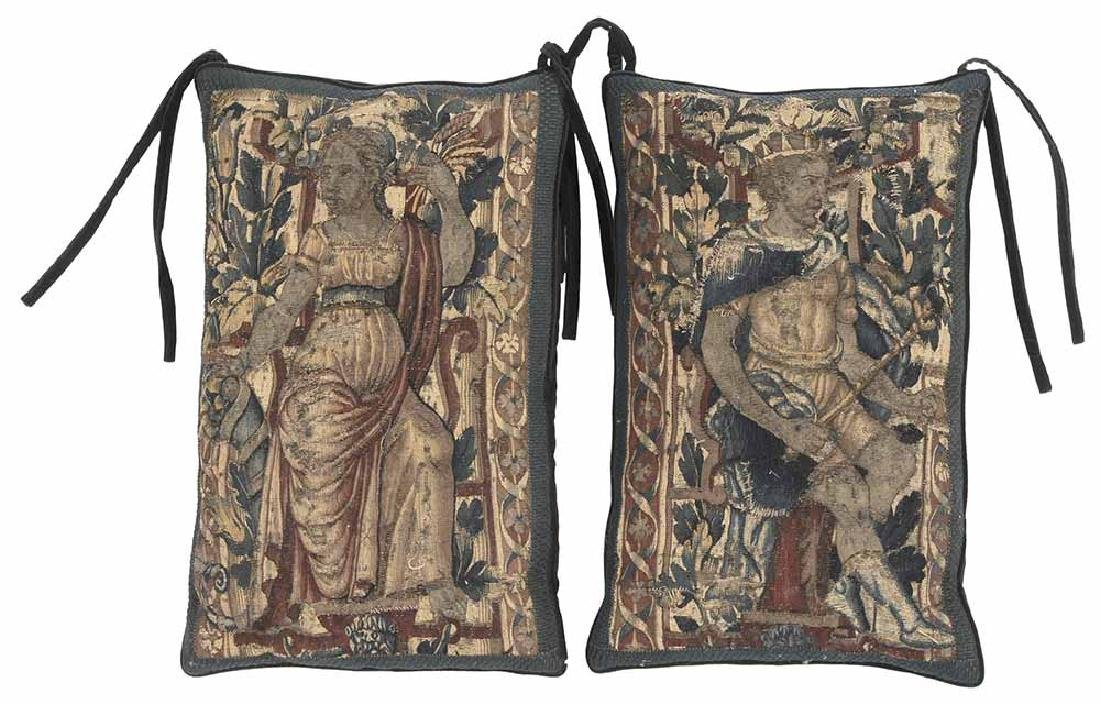 Pair of Tapestry Panel Pillows