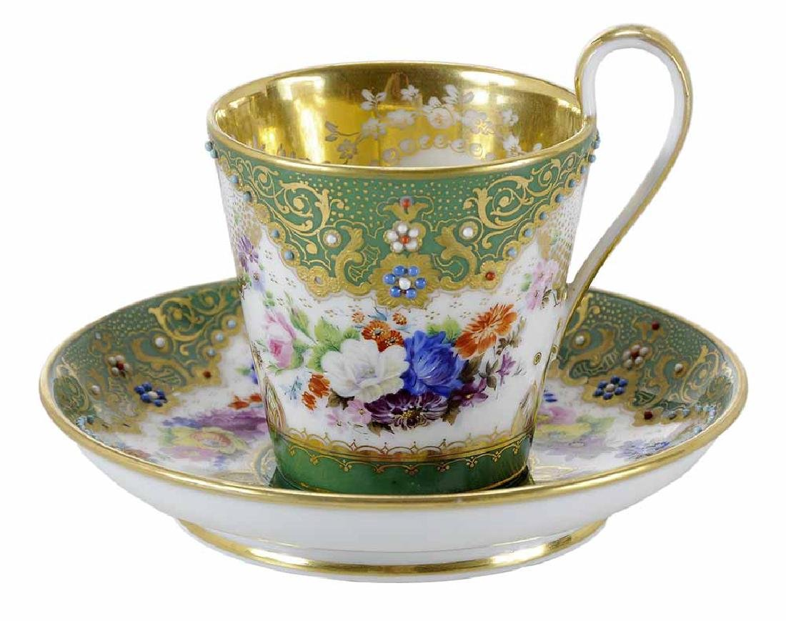 Popov Factory Porcelain Cup and Saucer