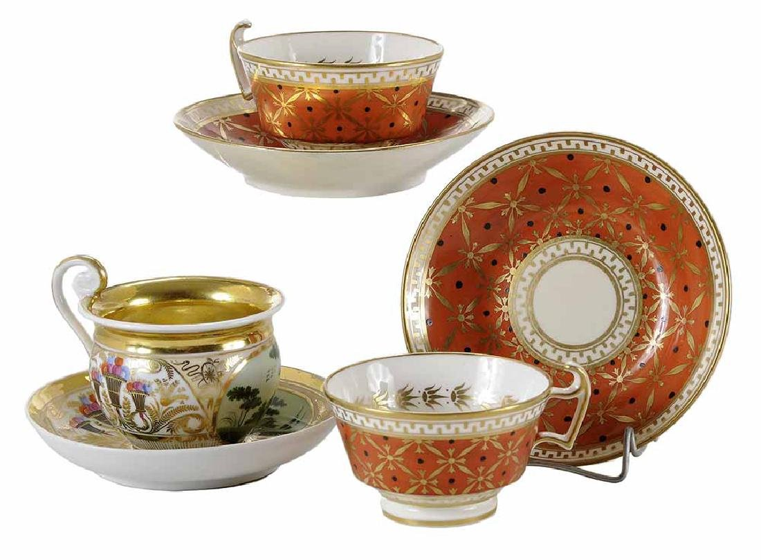 Three Russian and English Porcelain