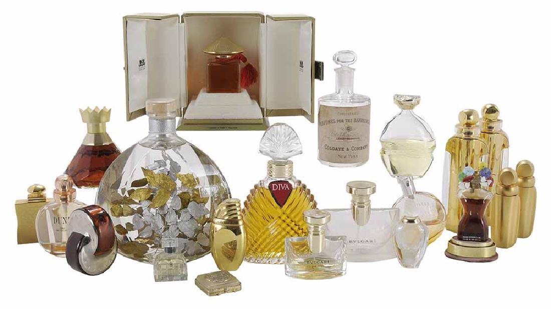 Twenty-one Perfume Bottles and