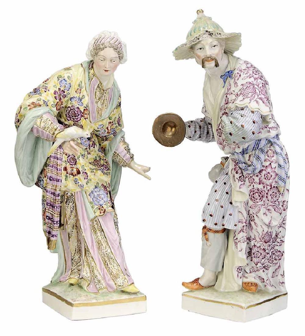 Pair KPM Berlin Porcelain Figures