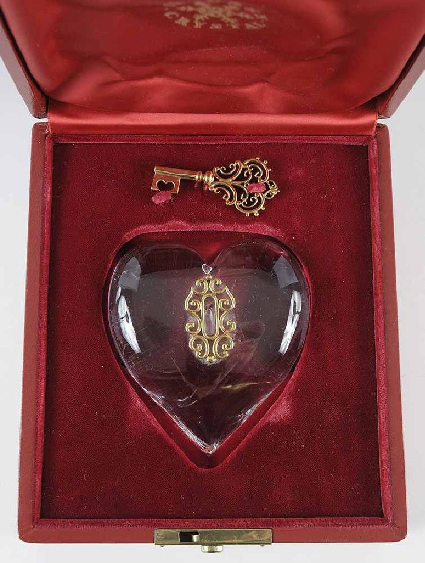 Steuben 18kt. Gold and Crystal - 3