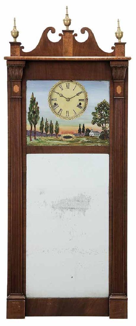 Federal Mahogany Wall Clock