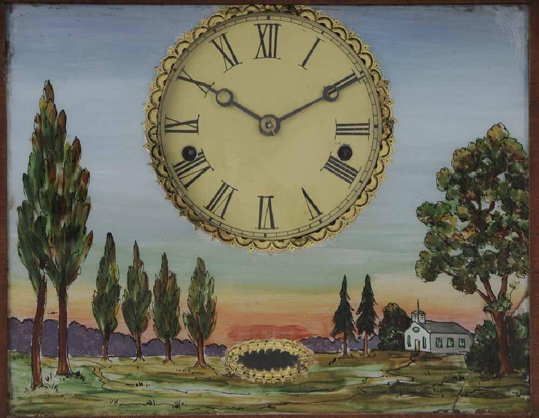 Federal Mahogany Wall Clock - 4
