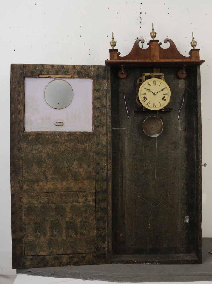 Federal Mahogany Wall Clock - 6