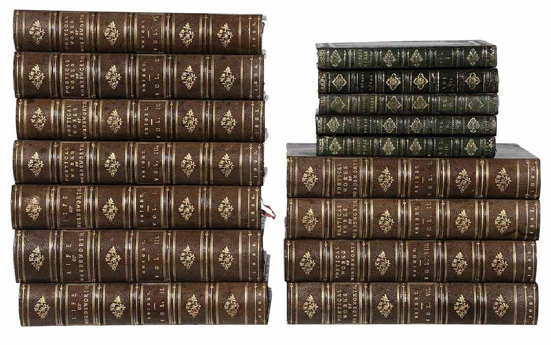 Sixteen Leather-Bound Books