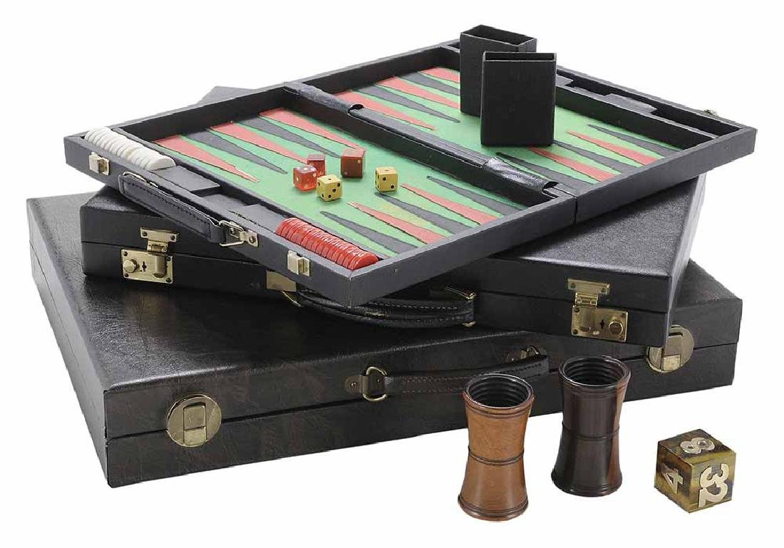 Group of Six Backgammon Items