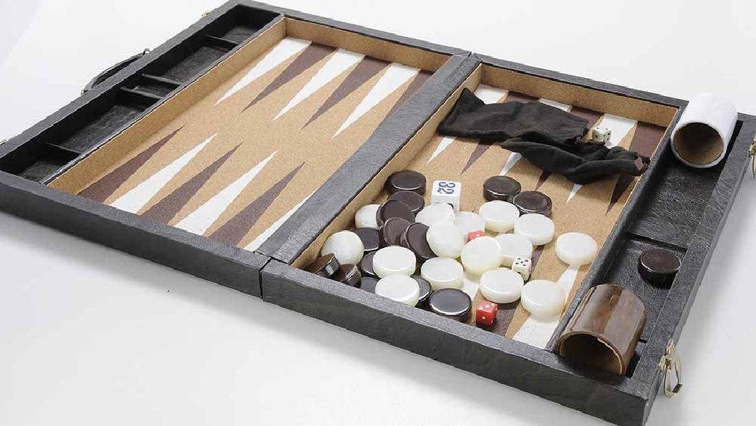 Group of Six Backgammon Items - 3