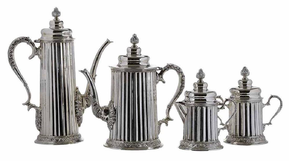 Tane Mexican Sterling Four Piece Tea