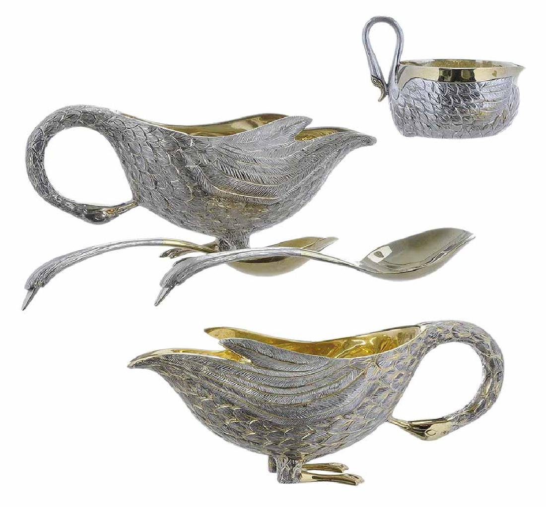 Five Tane Sterling Table Items