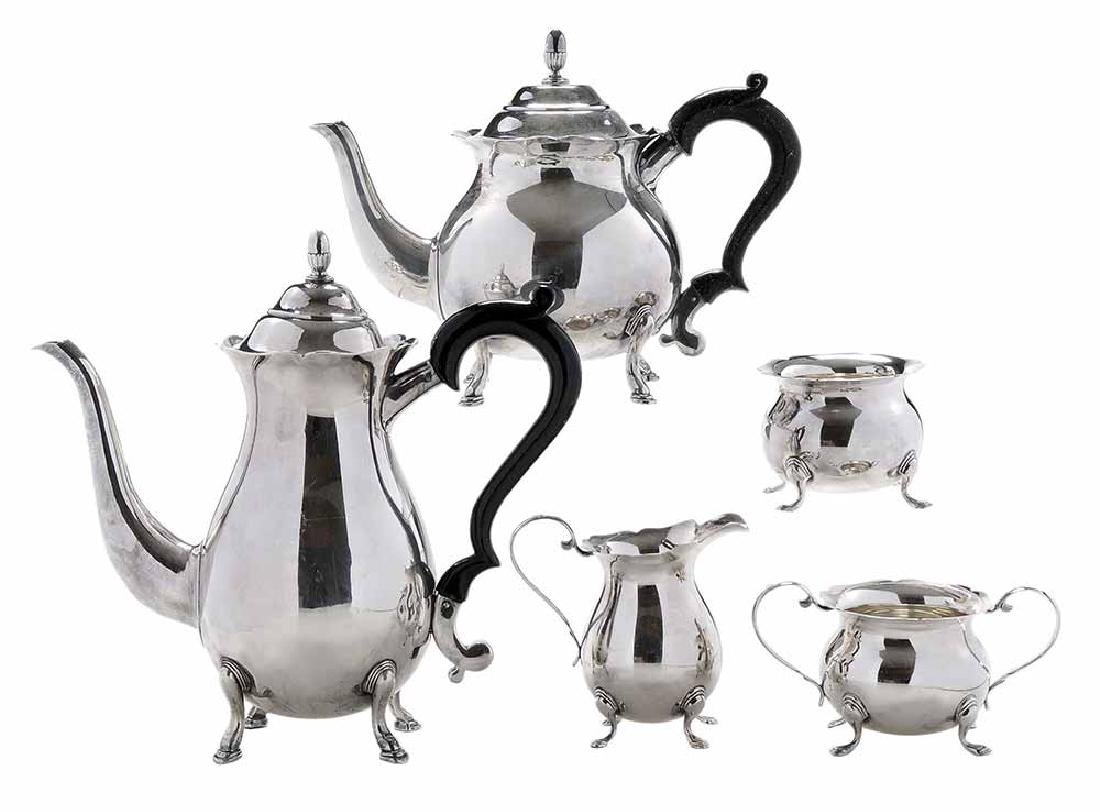 Japanese Five Piece Sterling Tea