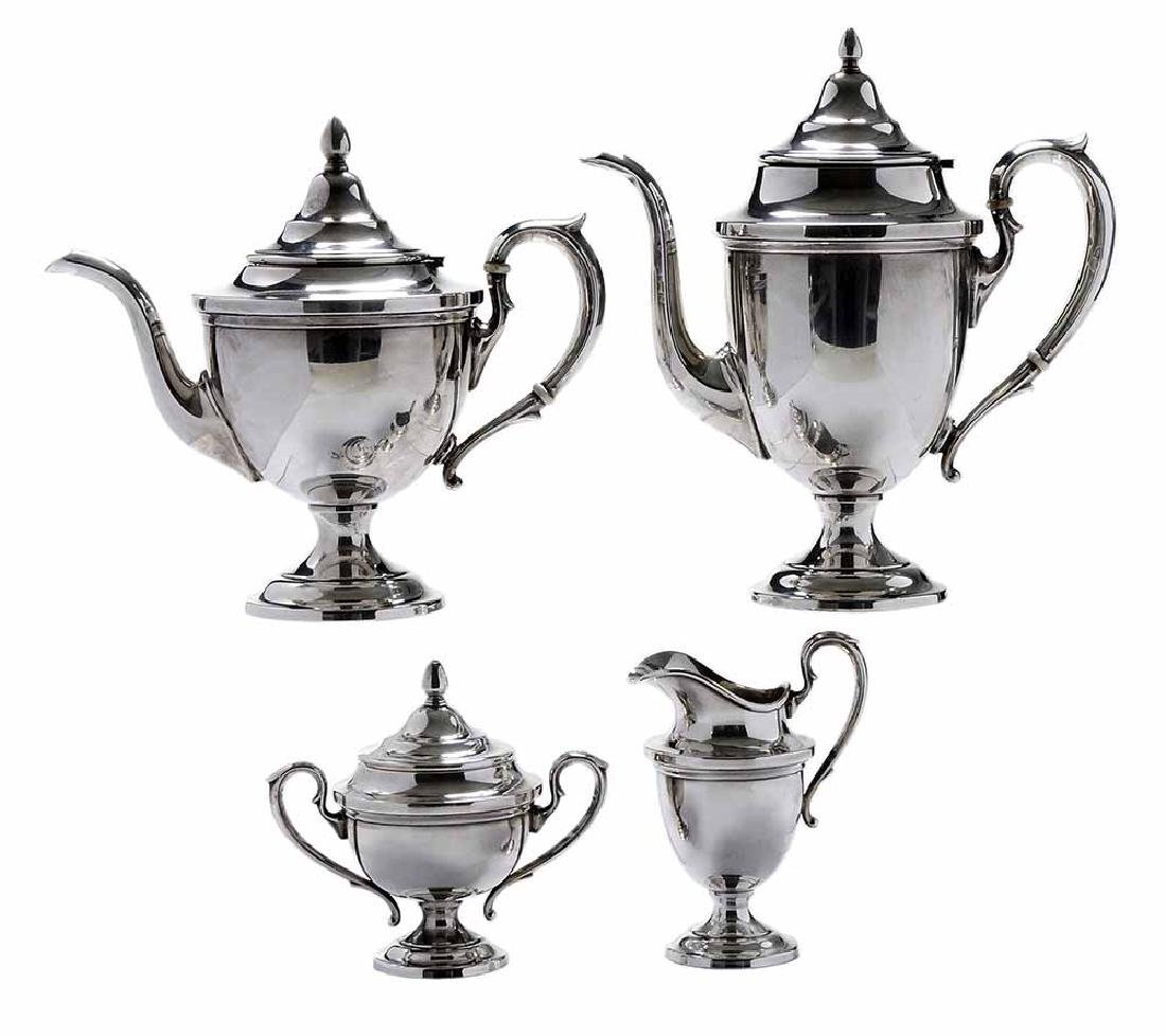 Four Piece Sterling Tea Service