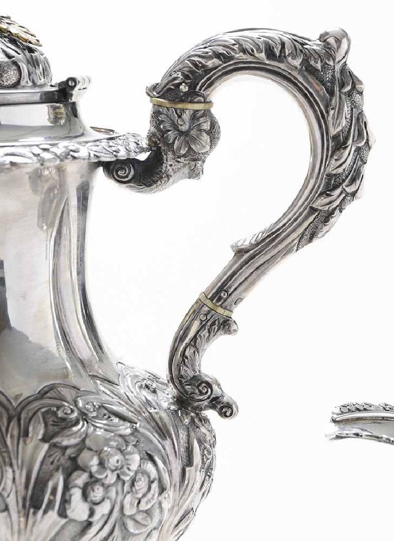 Irish Silver Four Piece Tea Service - 5