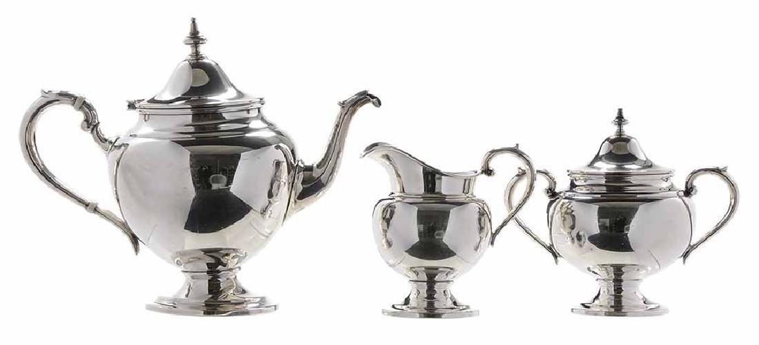 Three Piece Sterling Tea Service