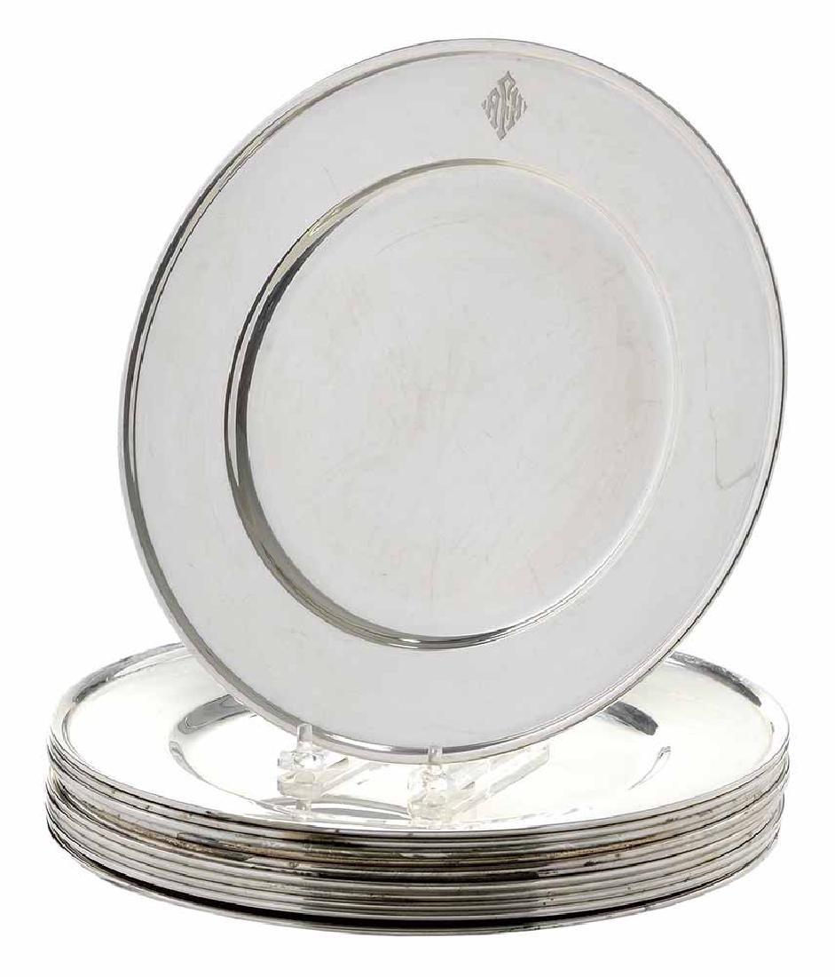 Set of Twelve Sterling Plates