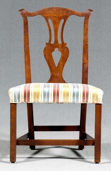 14: Chippendale cherry side chair