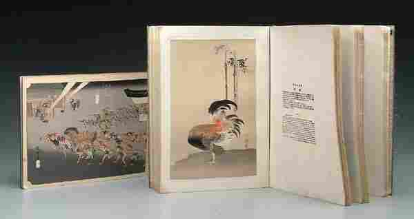Two Japanese books woodblock prints