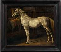 648: 19th century equestrian painting