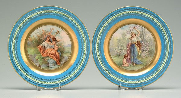 6: Two Vienna style plates: