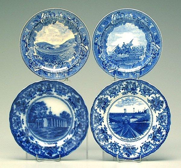 7: Four pieces blue transfer plates: