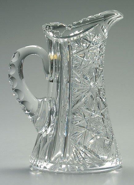 9: Cut glass pitcher,