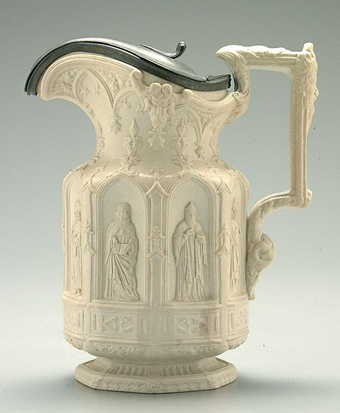 "13: 19th century ""Apostle"" bisque pitcher,"