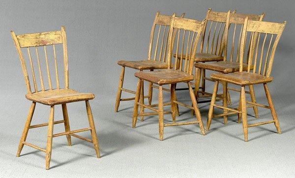 20: Set of six rod back Windsor chairs,