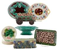 Fourteen Majolica Table Articles