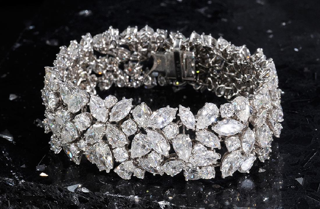 Important Cartier Platinum and Diamond Bracelet