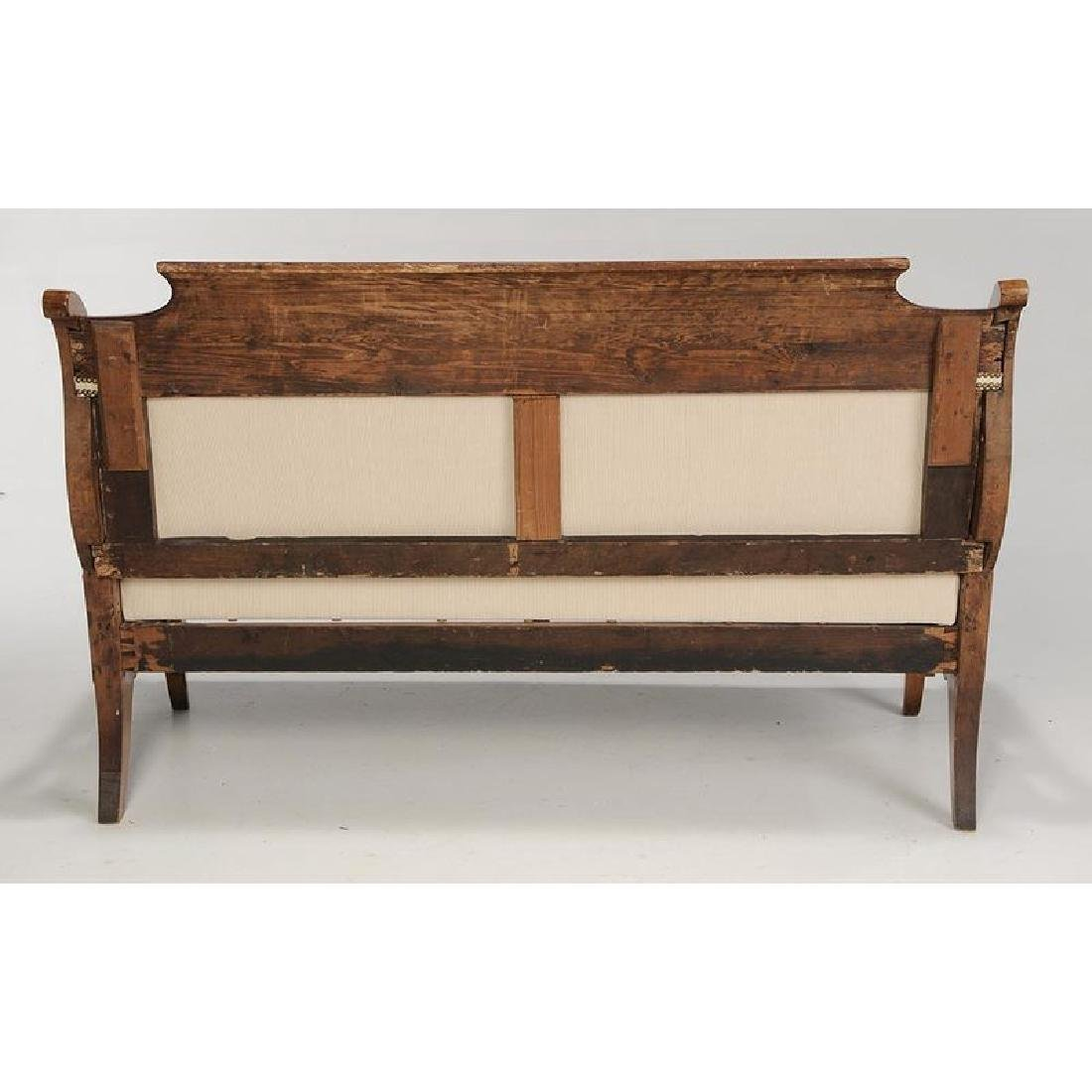 Baltic Neoclassical Karelian Birch Settee - 3
