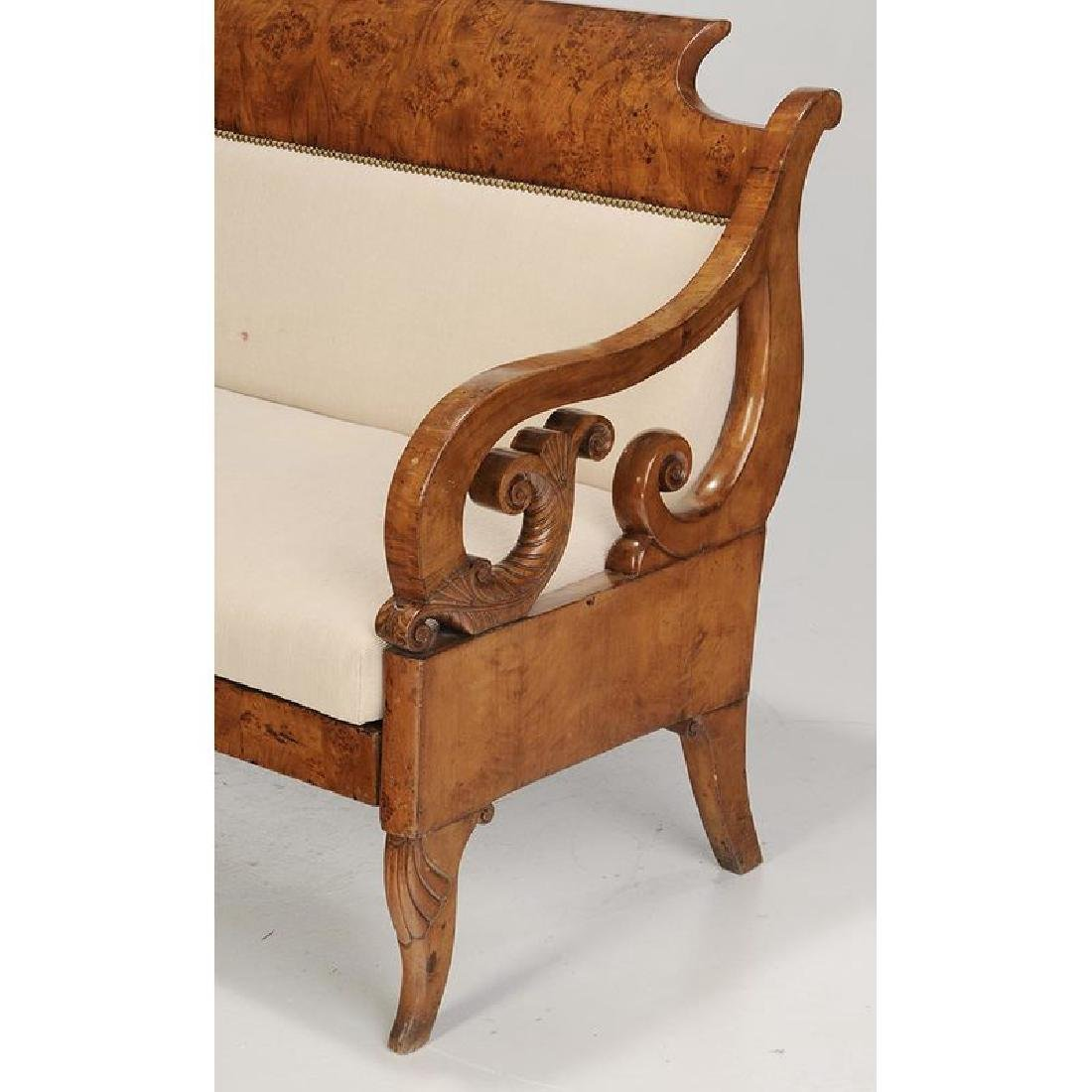 Baltic Neoclassical Karelian Birch Settee - 4