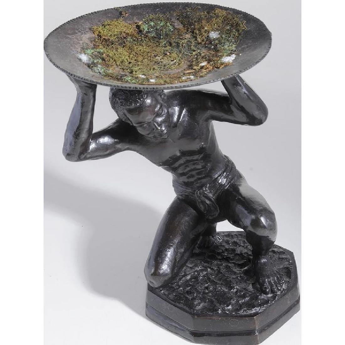 Bronze Atlas Figure - 4