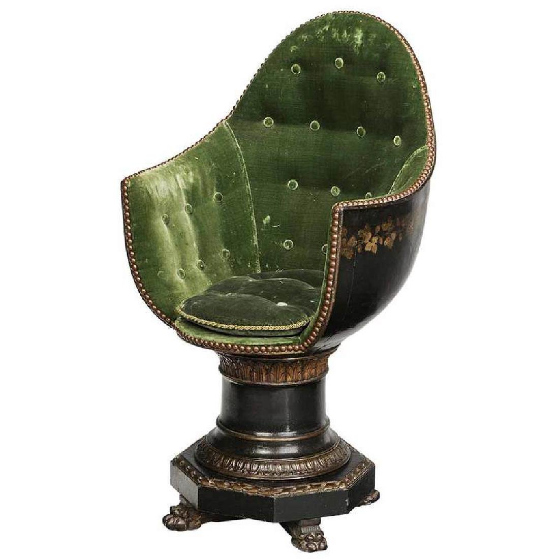 Venetian Parcel Gilt Child Size Gondola Chair