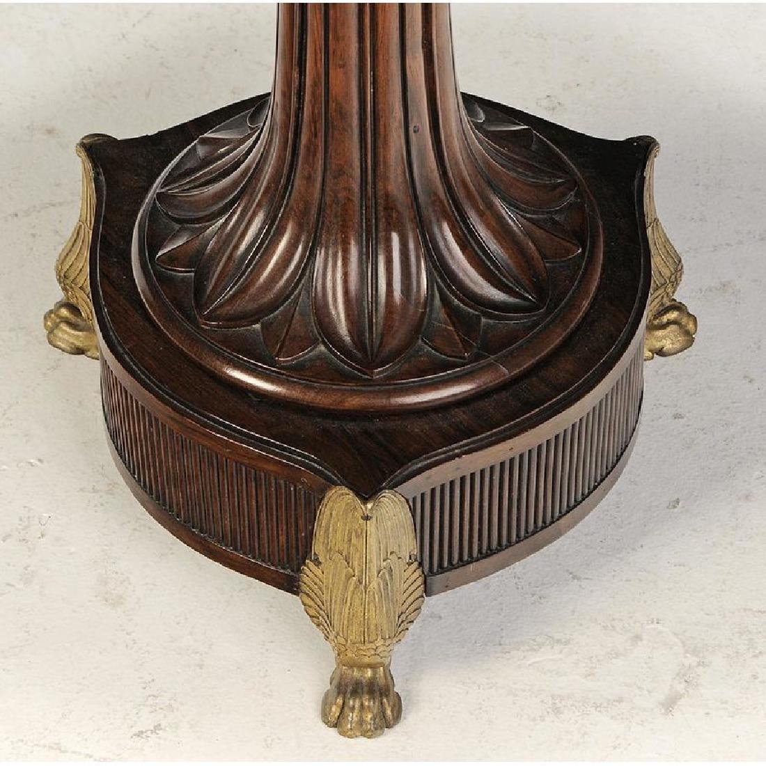 Classical Rosewood and Gilt Pedestal Table - 4