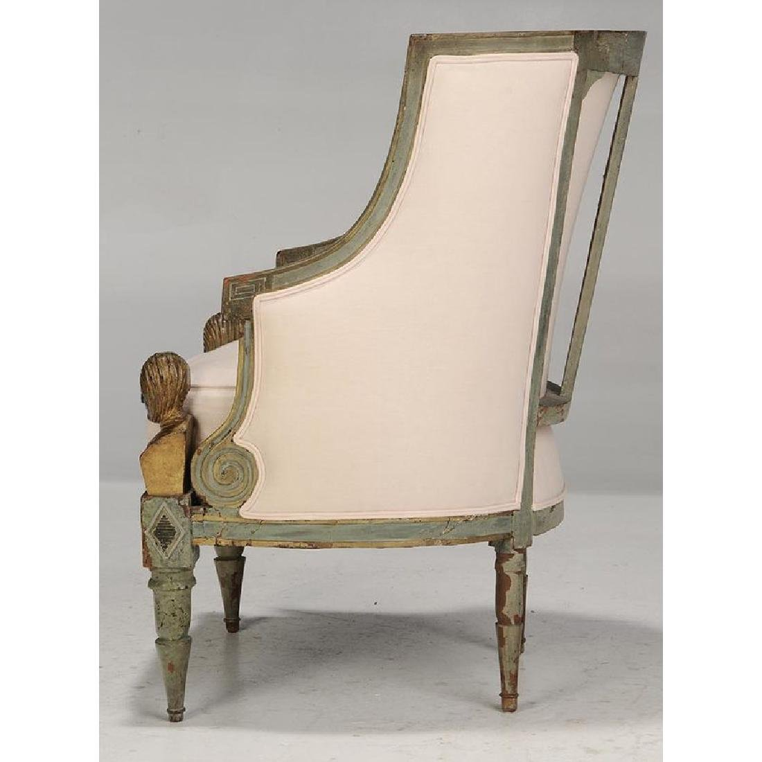 Pair Italian Neoclassical Arm Chairs - 5