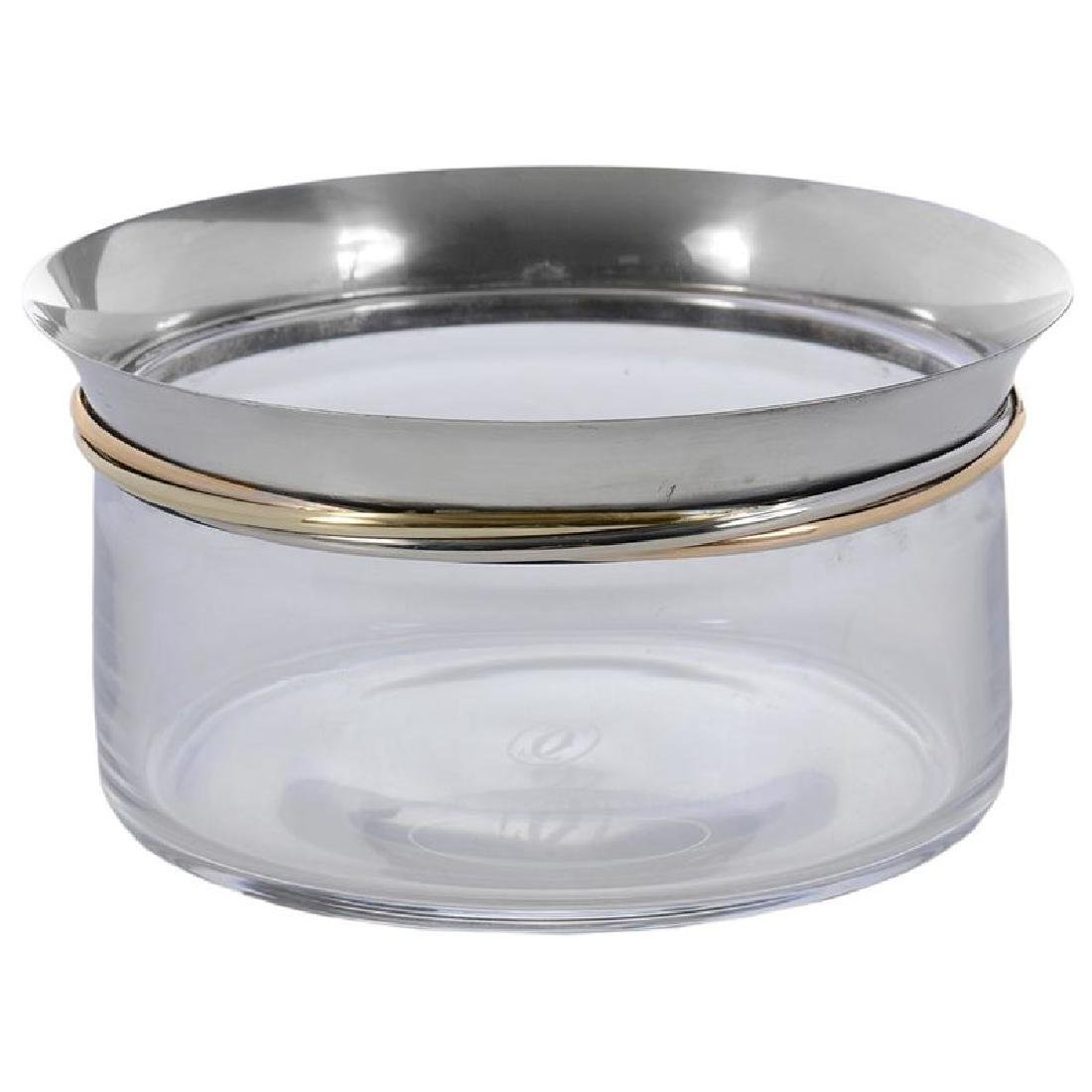 Cartier Glass and Silver Bowl