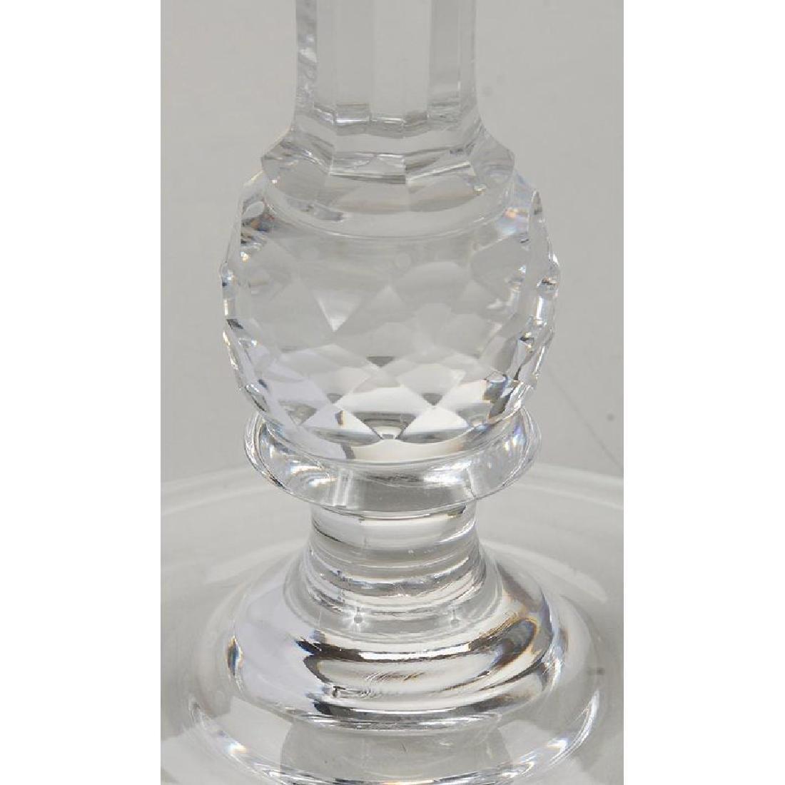 Ten Glass Candlesticks: Cartier and Val St. Lambert - 2