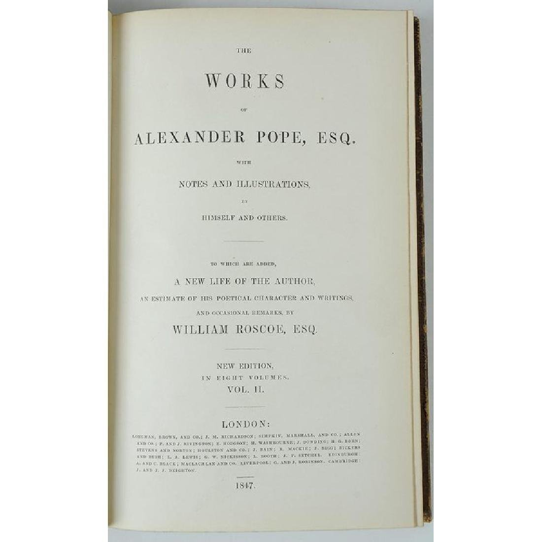 The Works of Alexander Pope Eight Volumes - 2