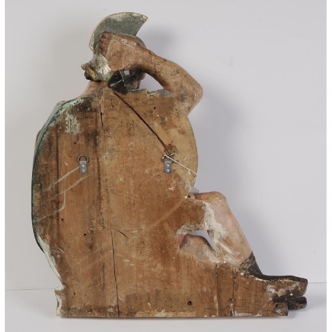 Wood Sculpture Sleeping Roman Soldier - 3